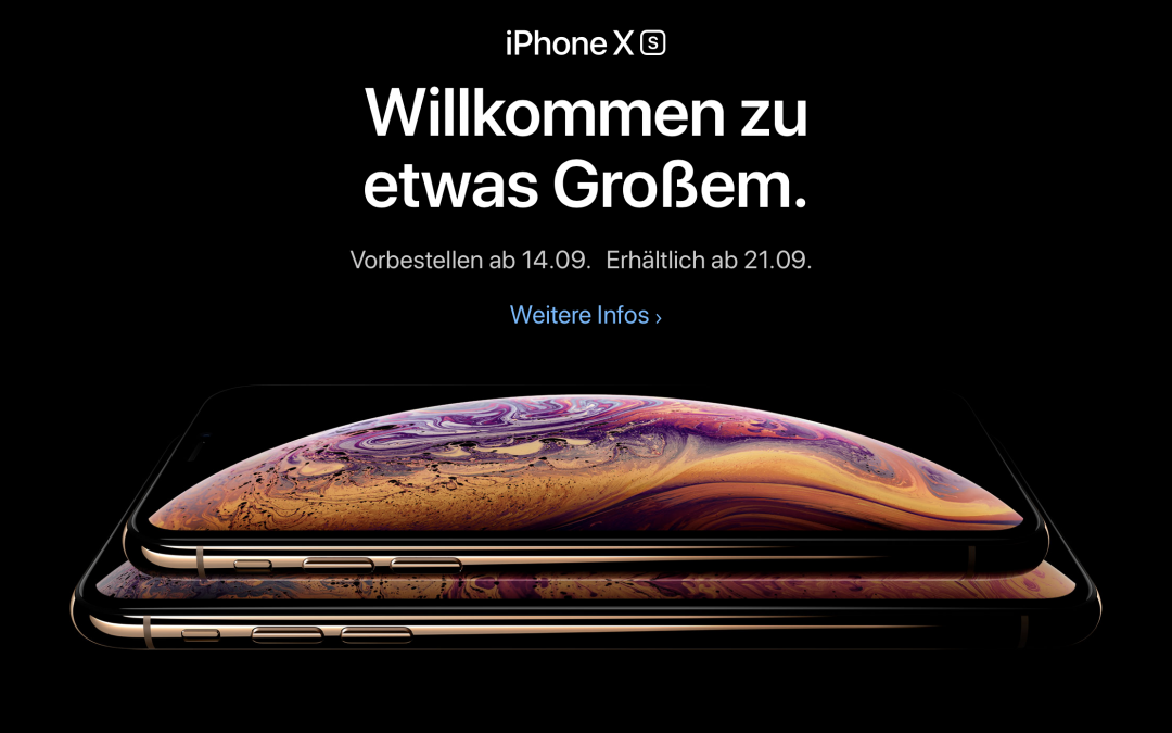 Neue iPhones und Apple Watch bei Apple Keynote am 12.9.2018