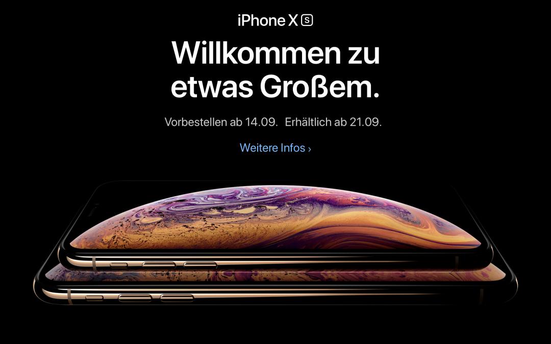 Neue iPhones und Apple Watch bei Apple Keynote am 12.9.2018