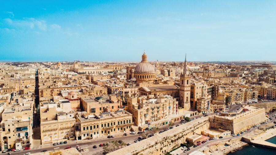 Aerial-view-of-Valletta