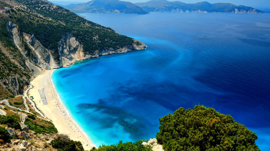 Myrtos beach Kefalonia Photo by the Region of Ionian Islands