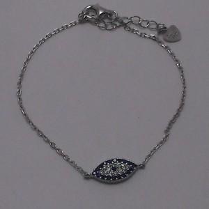 Βραχιόλι ματάκι ροδιομένο ασήμι 925 - br008