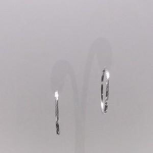 Σκουλαρίκια από ροδιομένο ασήμι 925 - er021