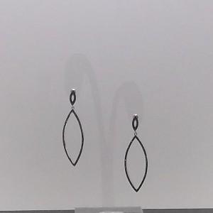 Σκουλαρίκια από ροδιομένο ασήμι 925 - er044