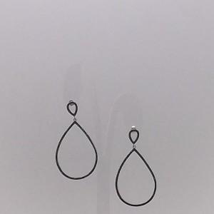 Σκουλαρίκια από ροδιομένο ασήμι 925 - er045