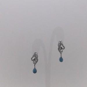 Σκουλαρίκια από ροδιομένο ασήμι 925 - er048