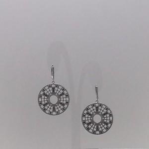 Σκουλαρίκια από ροδιομένο ασήμι 925 - er050
