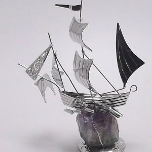 Επάργυρο δώρο καράβι gt020
