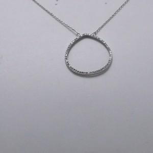 Κολιέ ροδιομένο ασήμι 925 - nk075