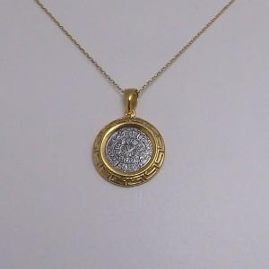 Κολιέ από ροδιομένο + επιχρυσωμένο ασήμι 925 - nk210