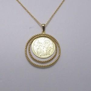 Κολιέ από επιχρυσωμένο ασήμι 925 - nk261