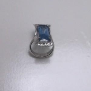 Δακτυλίδι από ροδιομένο ασήμι 925 -rg048