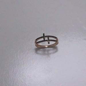 Δακτυλίδι από ροζ ασήμι 925 -rg080