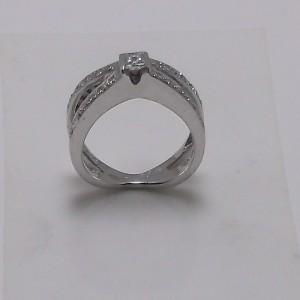 Δακτυλίδι λευκό Κ18 χρυσό - rgg001