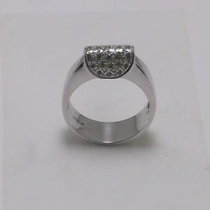 Δακτυλίδι λευκό Κ18 χρυσό - rgg017