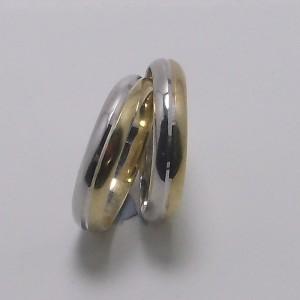 Βέρες Γάμου δίχρωμες K9 χρυσό - wrg9003