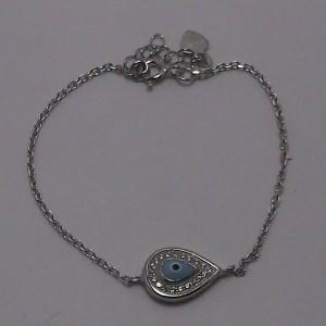 Βραχιόλι ματάκι ροδιομένο ασήμι 925 - br011