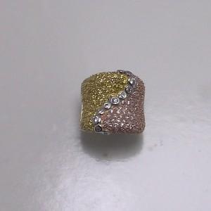 Δακτυλίδι από ροδιομένο ασήμι 925 -rg009