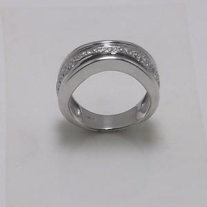 Δακτυλίδι λευκό Κ18 χρυσό - rgg010