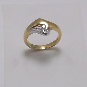 Δακτυλίδι λευκό Κ18 χρυσό - rgg011