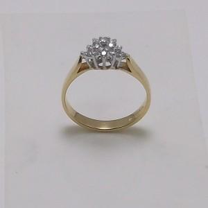 Δακτυλίδι κίτρινο + λευκό Κ18 χρυσό - rgg012