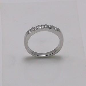 Δακτυλίδι λευκό Κ18 χρυσό - rgg018