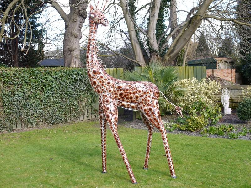 Marvelous Metal Giraffe Ornament
