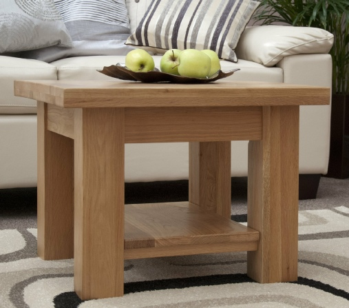 Modern Oak 2x2 Chunky Coffee Table Greens Home And Garden