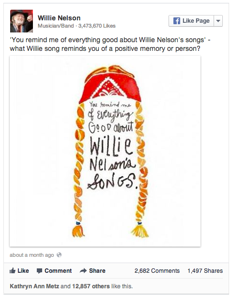 Willie Nelson songs and memories