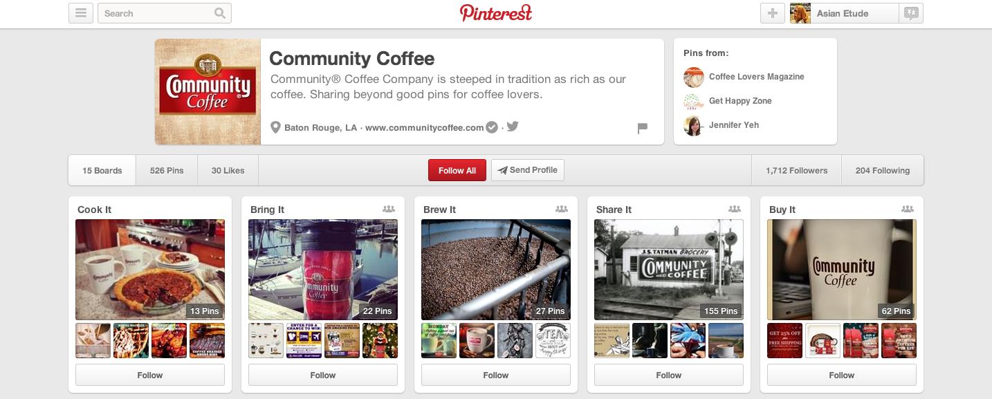 Community Coffee on Pinterest