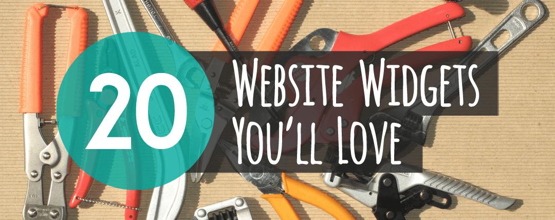 20 Website Widgets You'll Love