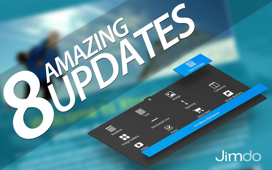 8 Amazing Updates in Jimdo