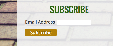 Mailchimp newsletter subscription form on a Jimdo website.