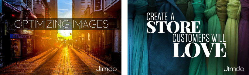 Images watermarked with the Jimdo logo.