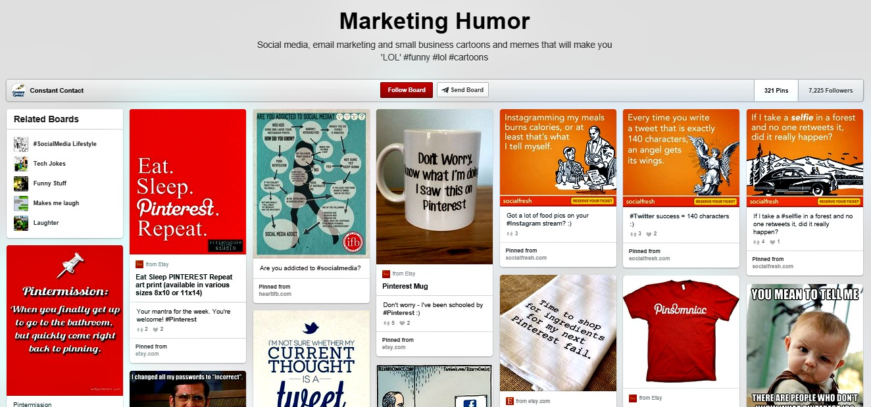 Marketing humor board
