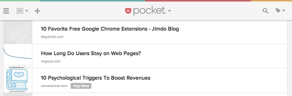 Chrome Extension Pocket