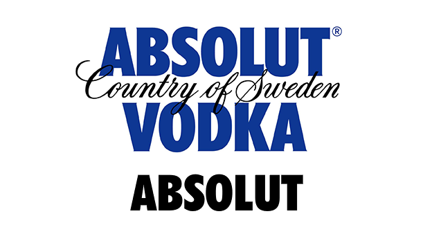 Absolut uses the font Futura in its logo