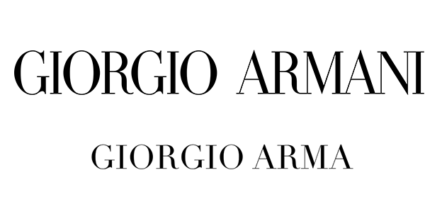 Georgio Armani uses the font Didot in its logo
