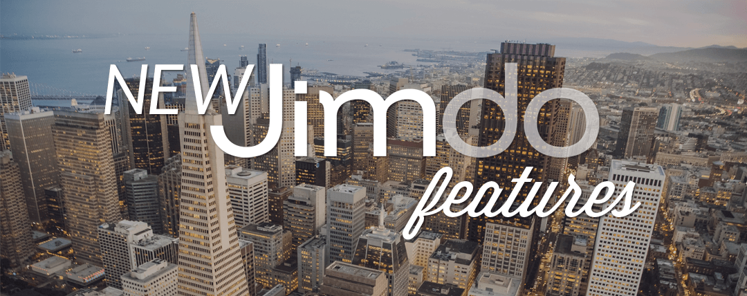 Announcing new Jimdo features