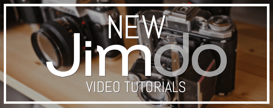 New Jimdo Video Tutorials Now Available