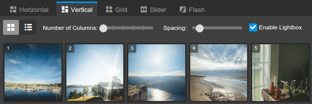 New photo gallery options