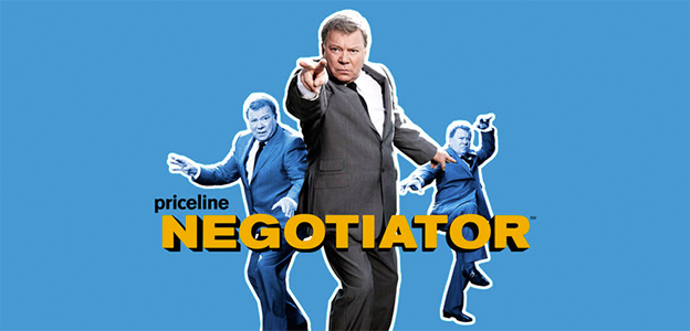 William Shatner serves as the face for Priceline
