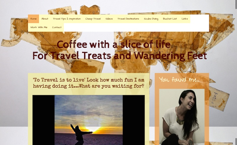 Coffee with a Slice of LIfe website