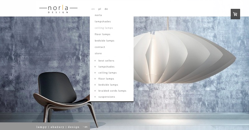 Online Store Norla Design using Rome Template