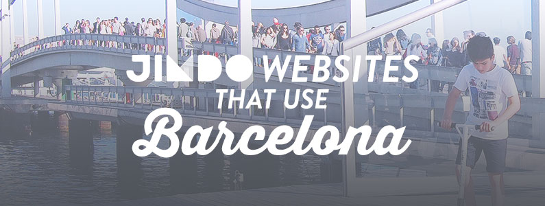 Jimdo websites that use the Barcelona Template