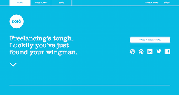 This is an example of sites use color blocks to fill their website