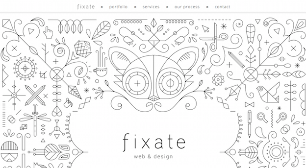 This is an example of websites using artistic illustration