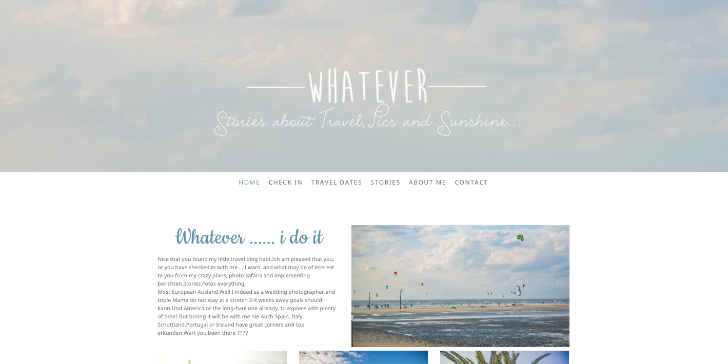 This is an example of a Jimdo website using the Zurich template