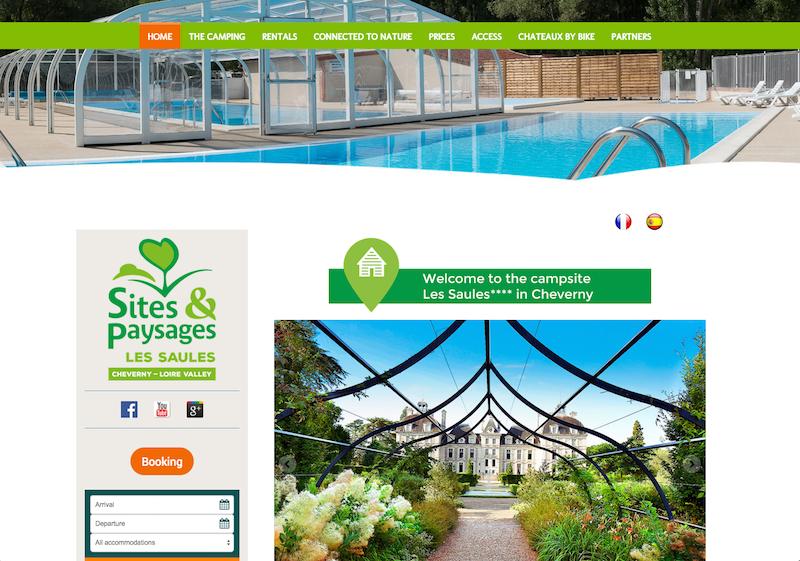 Example of multilingual Jimdo website