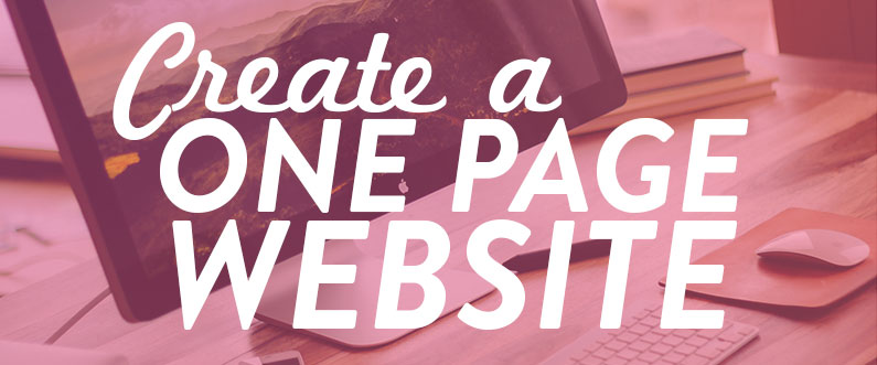 Create a One Page Website - small