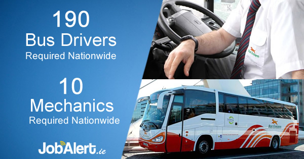 Bus Éireann is hiring 190 new drivers Nationwide & 10 Mechanics